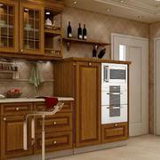 木色调厨柜装修设计
