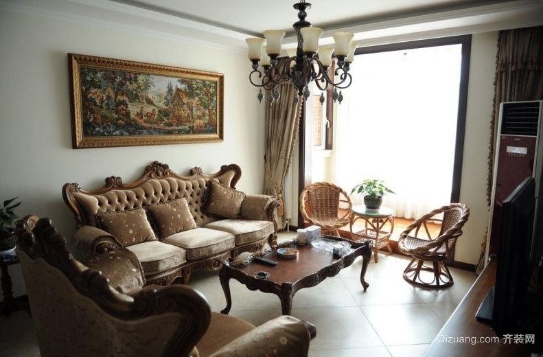 喜欢古典艺术的中年夫妻120平米房子室内装修效果图