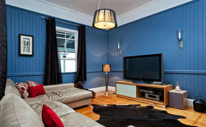 让人镇静的蓝色电视背景墙装修效果图大全