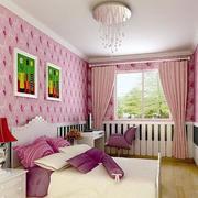 粉色调儿童房装修