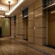 深色调电梯装修设计