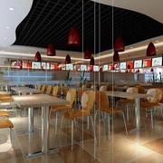 清新型快餐店装修