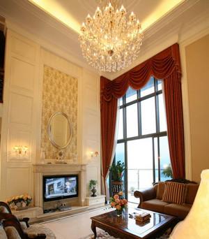 时尚大气简欧客厅石材背景墙装修效果图鉴赏