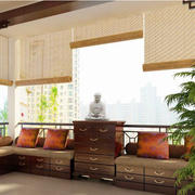 暖色调阳台装修设计