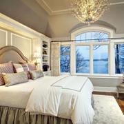 宜家风格卧室壁纸装修