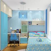 蓝色调室内装修图片