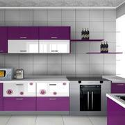 紫色怡情橱柜装修图片
