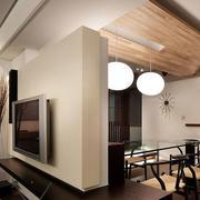 唯美风格电视墙设计
