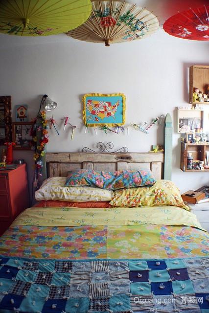 40平米冰淇淋般甜美的女生小卧室装修效果图