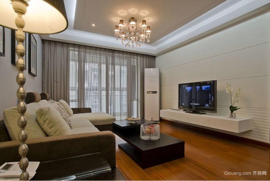 完美家装:三室二厅客厅吊顶效果图实例鉴赏