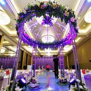 紫色怡情婚庆装修设计