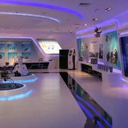 紫色调展厅装修图片