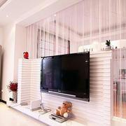 粉色调电视墙设计