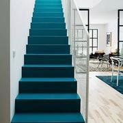 蓝色调楼梯装修设计