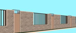 高度适合 够不着顶的围墙设计效果图
