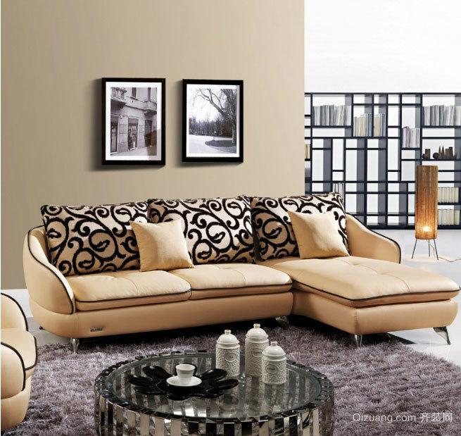 柔然舒适:美观的芝华士沙发背景墙装修效果图