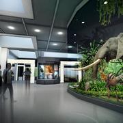 自然风格展厅装修效果图