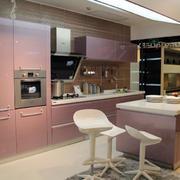 粉色调厨柜装修设计
