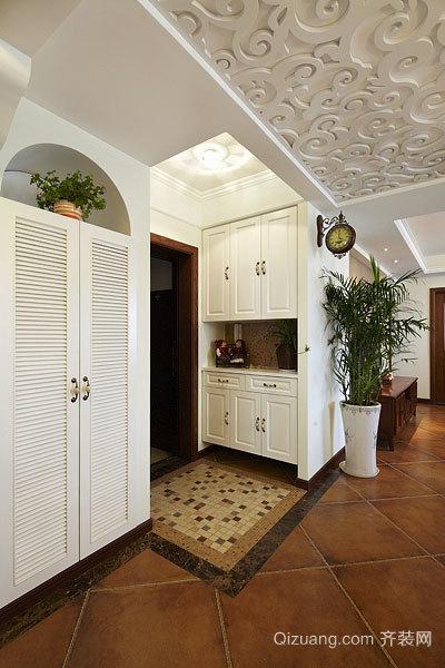 120平米石材马赛克材料美式乡村三室两厅装修效果图