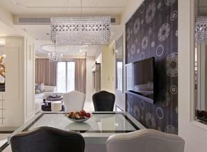 爱的华尔兹:轻古典120平米婚房公寓装修效果图