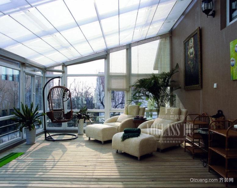 温暖舒适的都市阳光房装修效果图设计鉴赏