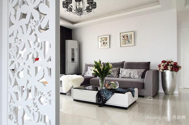100平米冰与雪的天地精致的现代简约三居室房屋装修
