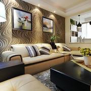 三居室沙发背景墙图片