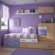 紫色调儿童房间设计