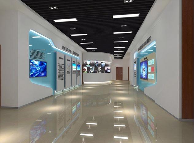 展现 公司产品文化 的 企业 展厅装修设计效果图