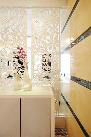 100平米简欧时尚婚房 卫生间创意隔断设计