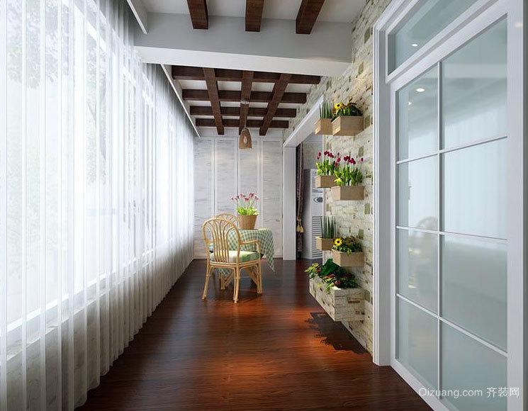 风格独特的大户型阳台储物柜装修效果图鉴赏