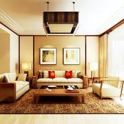 黄色调客厅设计图片