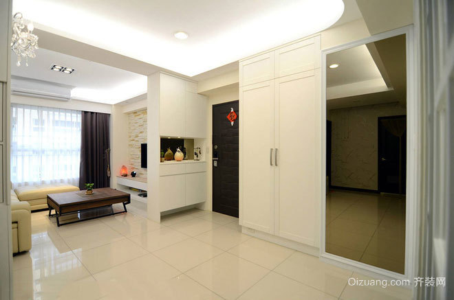 100平米精致与粗犷同在 纯净优雅的房屋装修设计