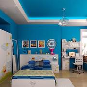 蓝色调房间装修设计