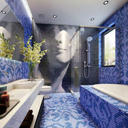 紫色调浴室装修图片