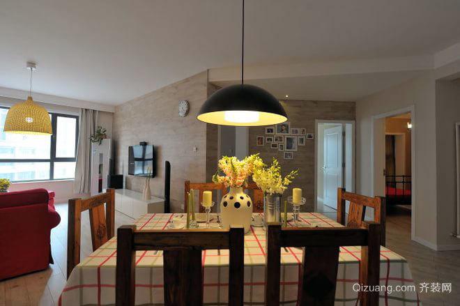 素锦时代:回归本原的质朴灵活开放的小户型三居室设计