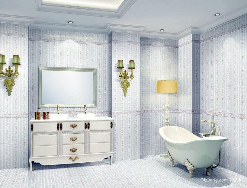 雍容华贵的大户型整体浴室装修效果图实例鉴赏-齐装网