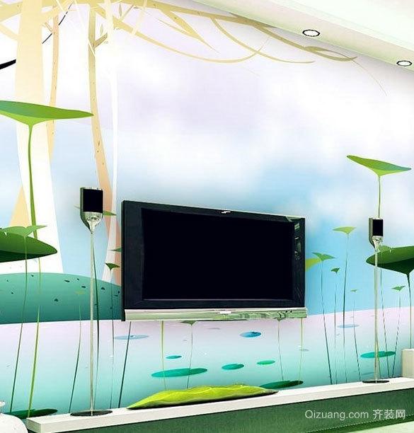室内液体壁纸设计效果图鉴赏