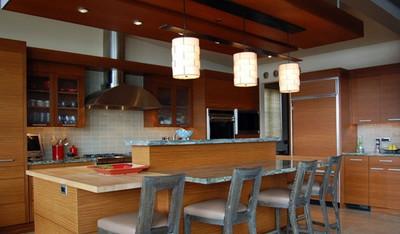 桌子的替代品:实用吧台设计装修效果图