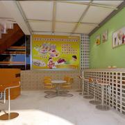 奶茶店楼梯设计大全
