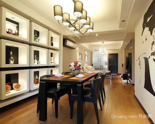 黑白印象 混搭风格两居室装修效果图