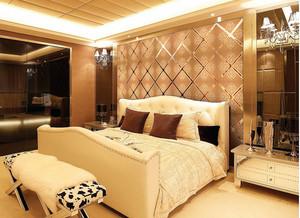 卧室玻璃背景墙图片