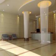 宾馆大厅石膏柱设计