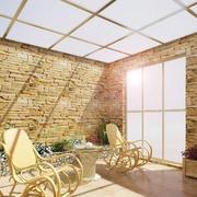 暖色调阳光房设计