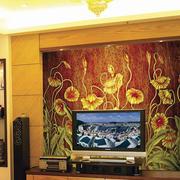 富有艺术感玻璃背景墙