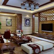 别墅中式客厅装修