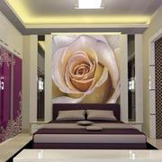单身公寓床头背景墙