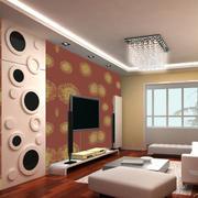 动感型电视背景墙