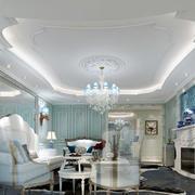 白色简约客厅吊顶装修