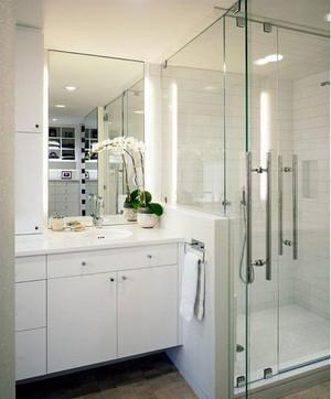 别墅宜家纯白色卫生间装修效果图